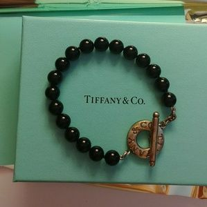 Tiffany & Co Black Onyx toggle bracelet